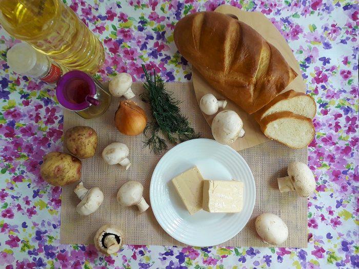 Ингредиенты для грибного супа