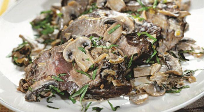 Салат из говядины и шампиньонов: фото