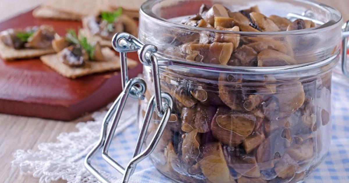 Жареные грибы в жиру