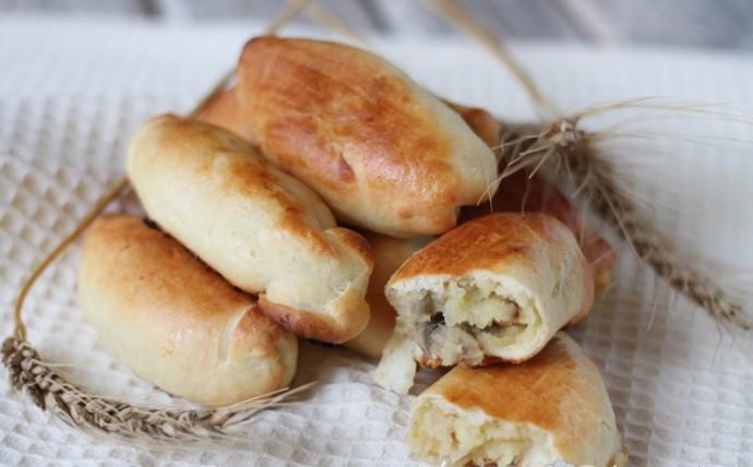 Пирожки с шампиньонами: фото