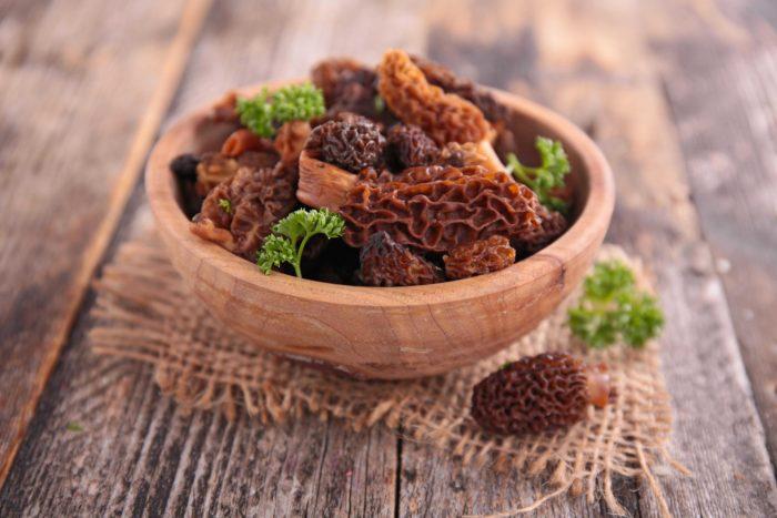 Блюда из сморчков: рецепты