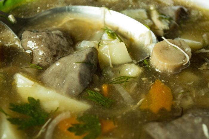 Как приготовить суп из сыроежек