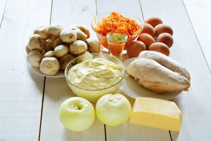 Ингредиенты для слоеного салата