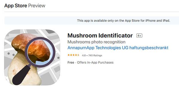 Приложение Mushroom identify